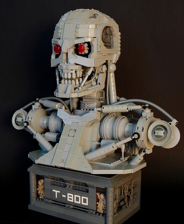 terminator bust movies lego