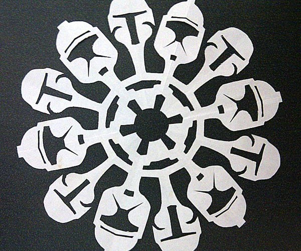 Star Wars Paper Snowflakes: I Wanna Wish You a Jedi Christmas