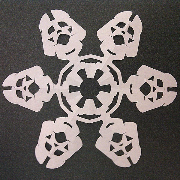 papercraft snowflake star wars empire darth vader clone trooper