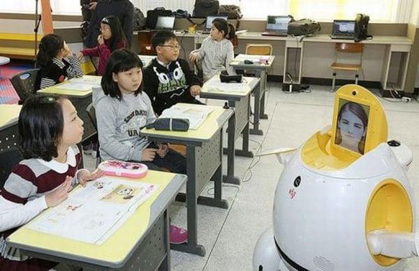 esl english teaching robot south korea