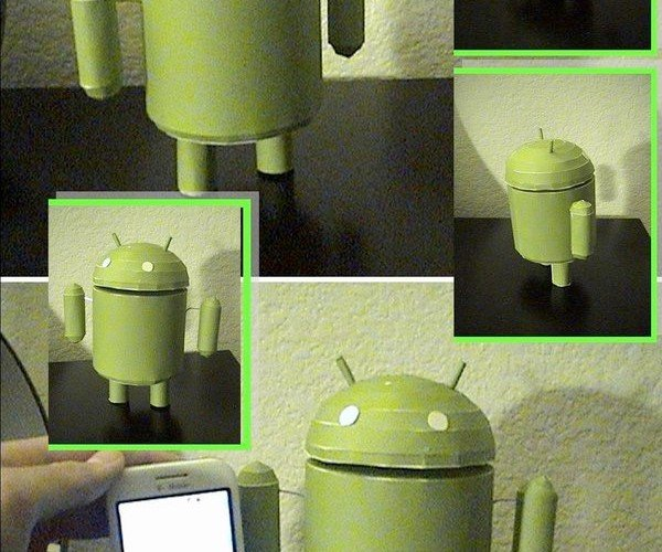 Papercraft Android Mascot Invades Desktops