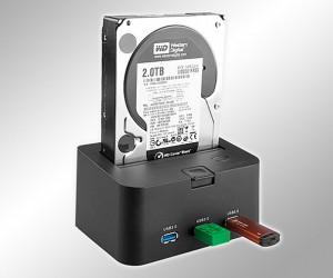Brando USB 3.0 SATA HDD Dock Includes Handy 3-Port USB 3.0 Hub