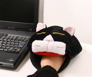 Cat Head Mousepad Heater Eats Your Mouse, Then Your Hand