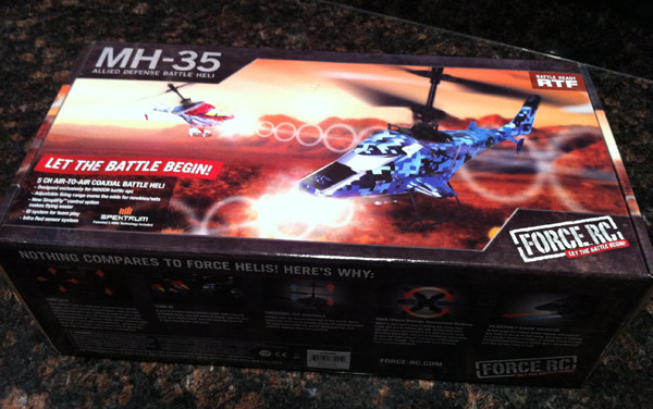 force rc helicopter box