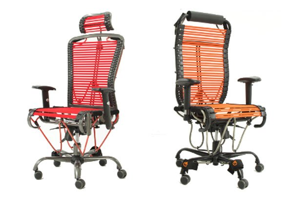 Marvelous The ergonomic office chair sits in front of your puter and allows you to work out with elastic resistance straps while you sit