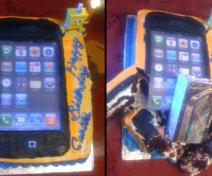 iPhone 4 Cake Actually had iPhone 4 Inside