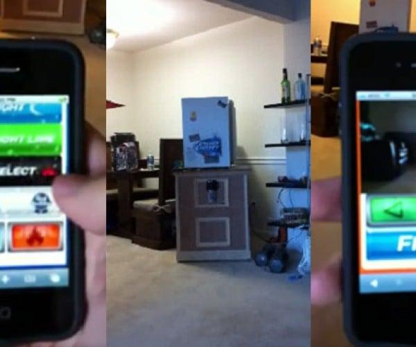 iPhone-Controlled Mini Fridge Beer Cannon