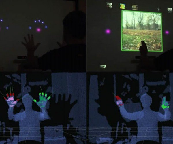 Kinect Minority Report Hack: Fingers Detected!
