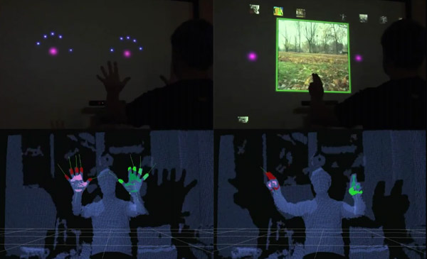 kinect minority report hack mit