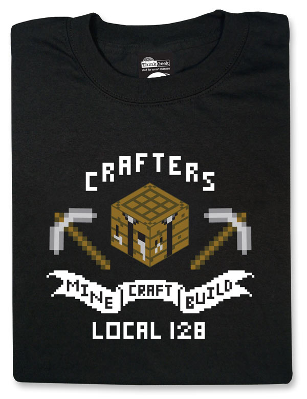 minecraft crafters union t shirt
