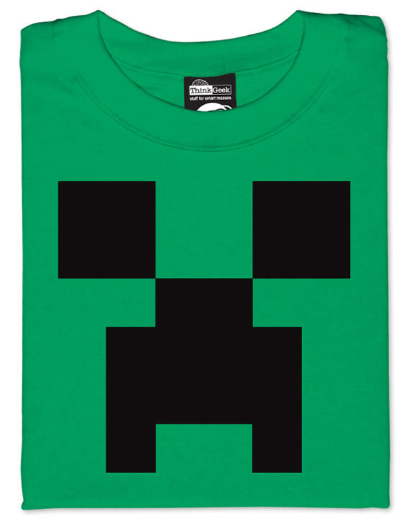 Official minecraft shirts crafted for Mine craft t shirt