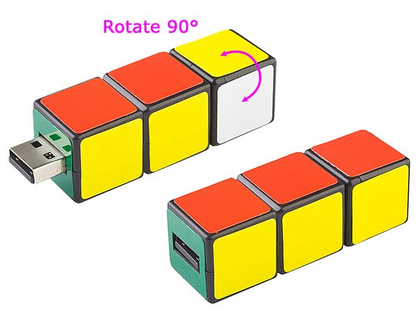mini iq rubiks cube flash drive 1