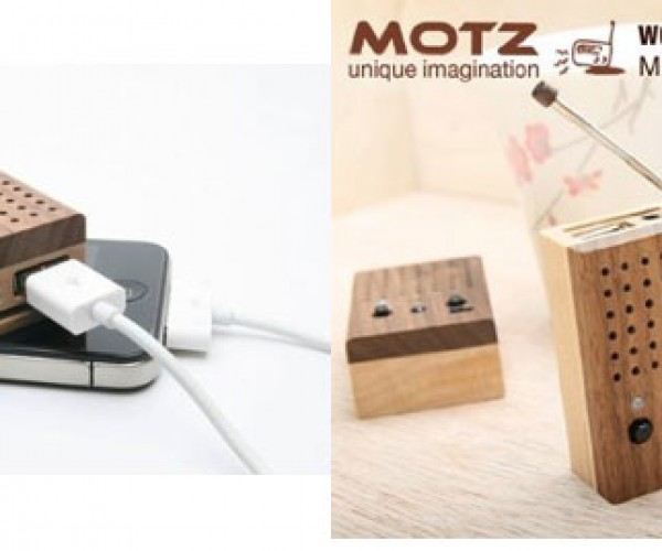 Motz Tiny Wooden Power Speaker Makes it OK to Stroke Your Wood