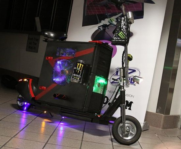 scooterputer scooter pc casemod 1