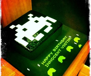 Space Invaders Birthday Cake Invades Hong Kong