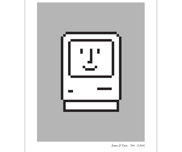 Classic Mac Icon Prints Need Beige Frames