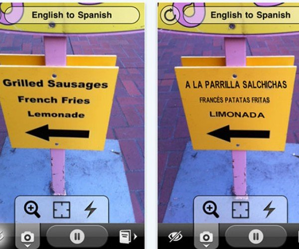 Word Lens Automagically Translates and Displays Translations