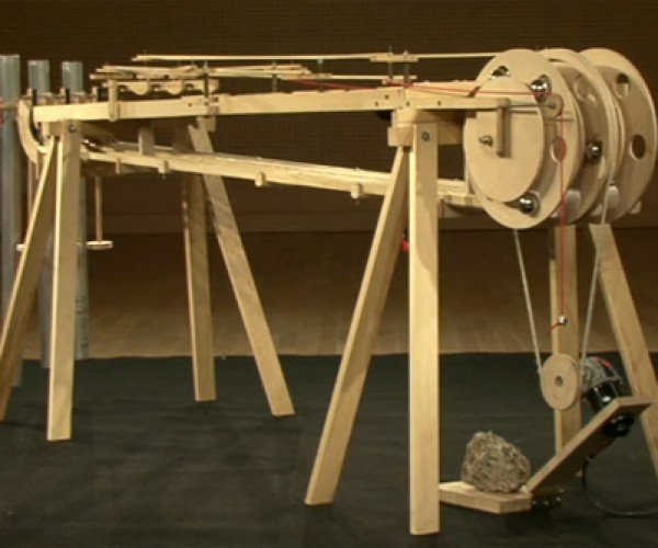 Ternary Kinetic Sculpture: A Wooden Thinking Machine