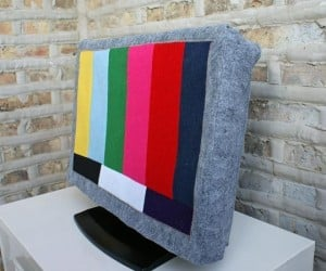 Felt Test Pattern TV Cover: Do Not Attempt to Adjust Your Set