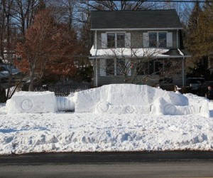 Fallen AT-AT Snow Fort: Hoth on Your Lawn