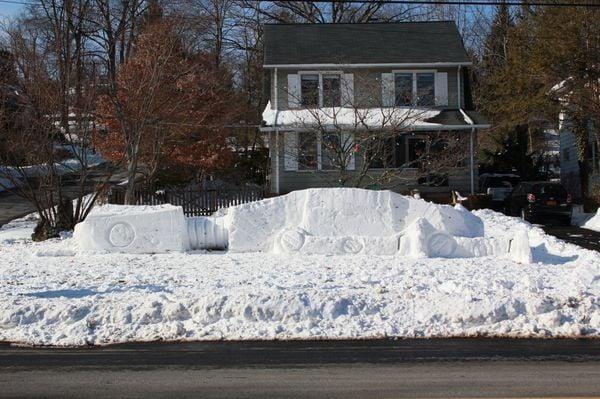 star wars empire at-at sculpture snow