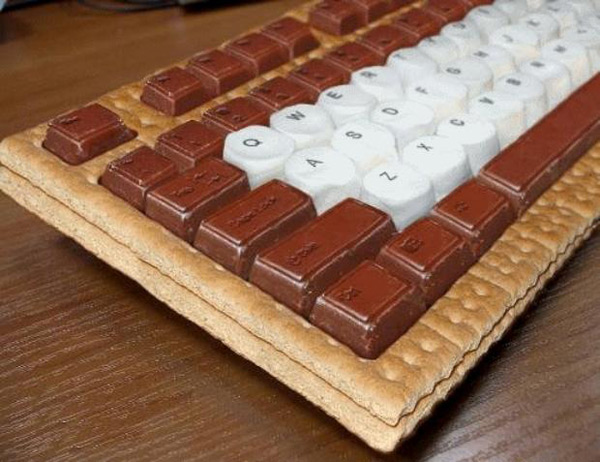 keyboard smore s'more cookie candy marshmellow fun
