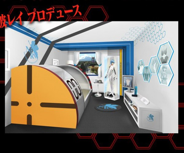 Evangelion-Themed Hotel Room: Vacation Destination for Anime Geeks