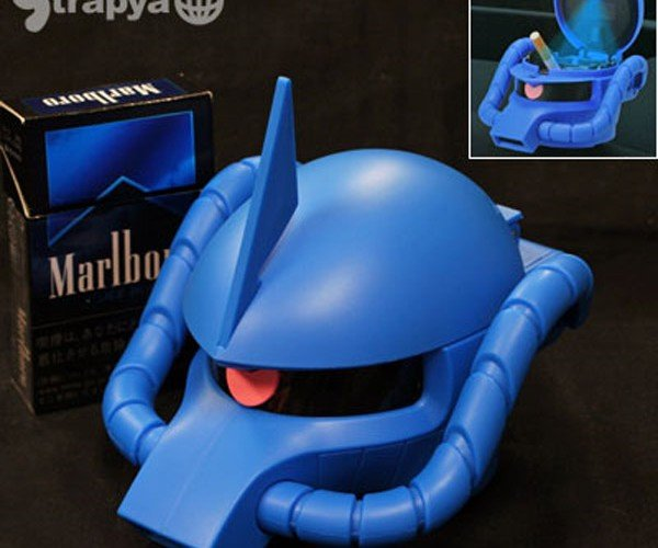 Gundam Head Ashtray: Who's Been Putting Their Coals Out in My Mobile Suit?