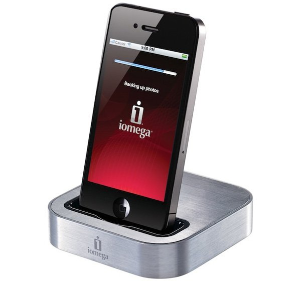 iomega superhero iphone dock