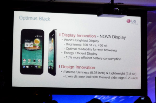 lg optimus black ces slideshow