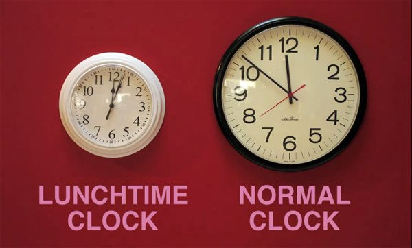 lunchtime clock hack