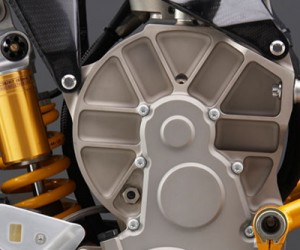 Mission R Electric Racing Motorcycle Stripped