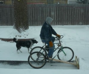 World's Geekiest Snowplow is Pedal-Powered Trike