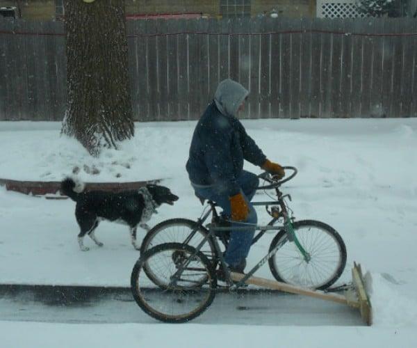 World's Geekiest Snowplow is Pedal-Powered Trike