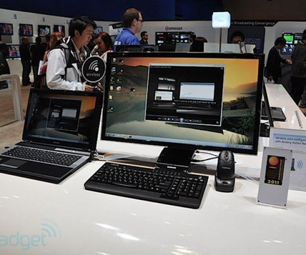 Samsung Central Station Wirelessly Provides Larger Monitor, Extra Ports