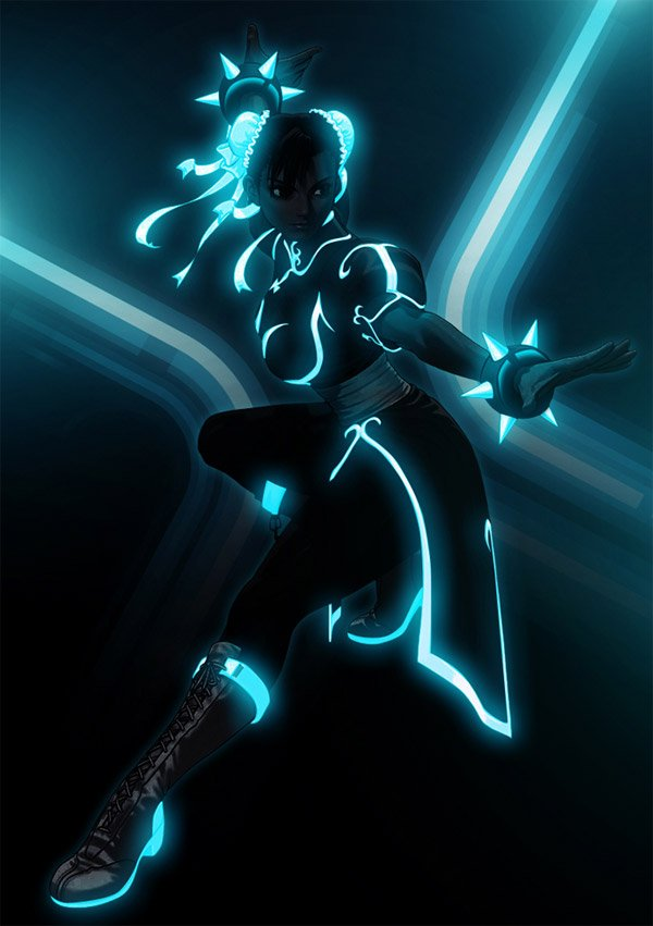 street fighter tron art by bosslogic 1
