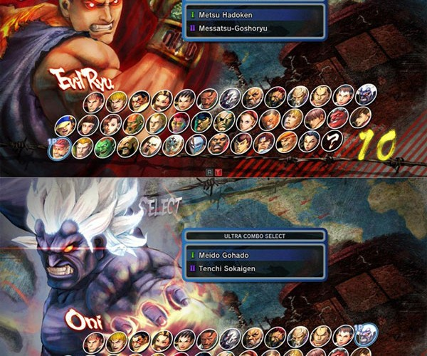 Evil Ryu and Oni Akuma Turn Up On Super Street Fighter IV Arcade Edition