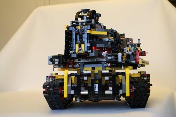 lego tank motor nxt mindstorms badass gun