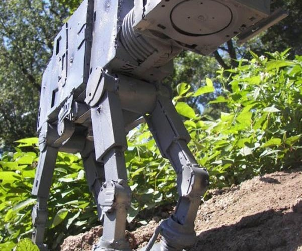 AT-AT Made From Recycled Computer Parts: Blue Screen of Hoth
