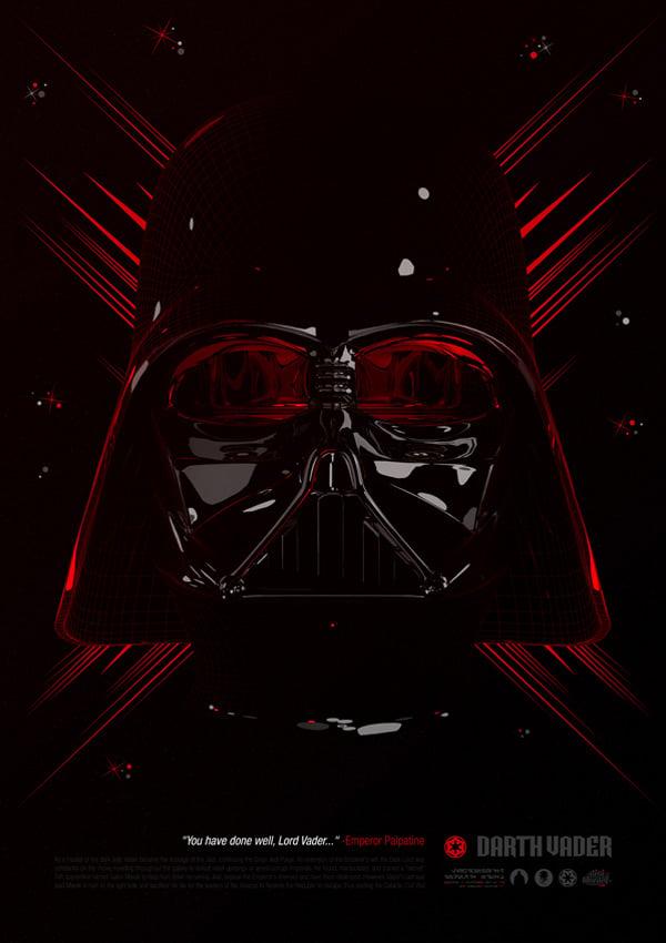 star wars tribute darth vader boba feet stormtrooper