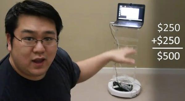 telepresence hack irobot create netbook robot