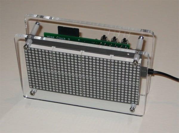 wise clock diy arduino timepiece hack pong