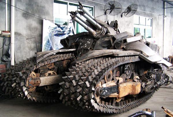 megatron tank transformers sculpture china wing wah