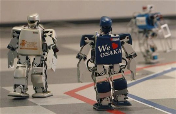 robot marathon robovie japan mini humanoid race