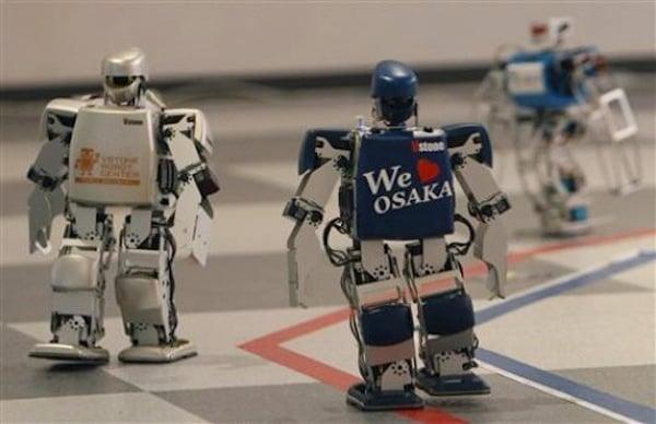 robot marathon robovie japan mini humanoid race