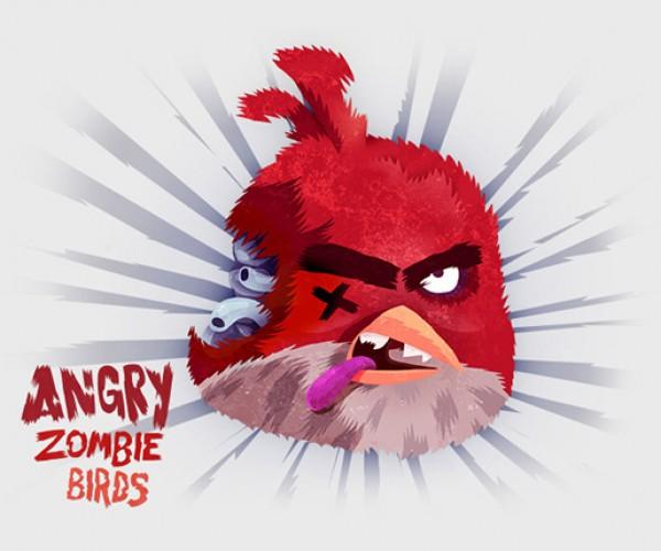 angry zombie birds by tomasz kaczkowski 2