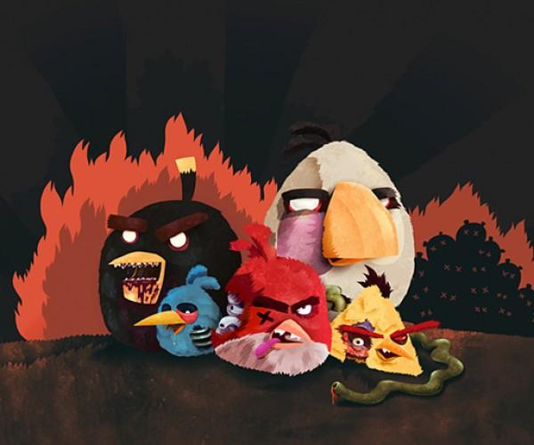 angry zombie birds by tomasz kaczkowski