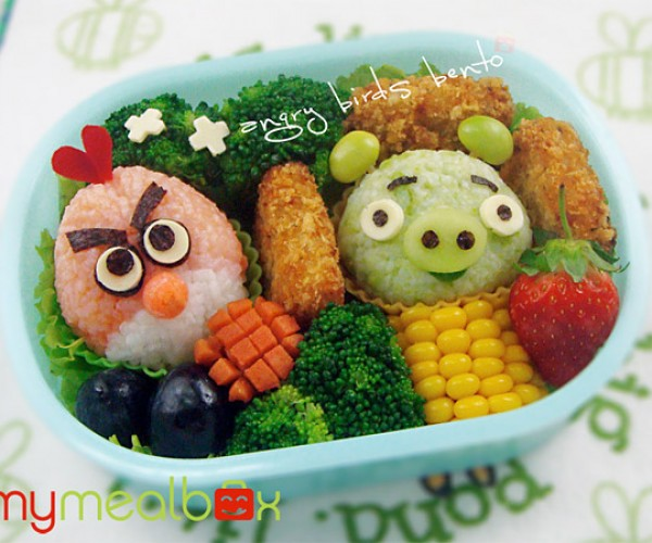Angry Birds Bento Box Catapults Birds and Pigs into Stomachs