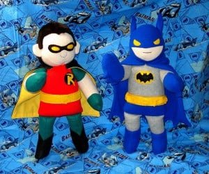 Holy Plush Batman!… and Robin!