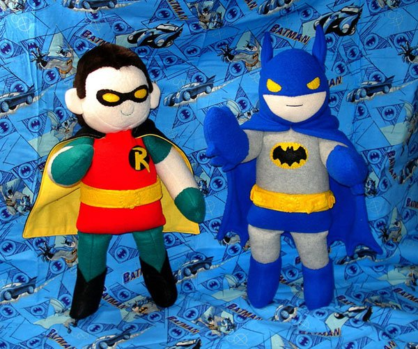 batman and robin plush by handmade stuffs